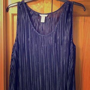 H&M women's navy blue crinkle dress